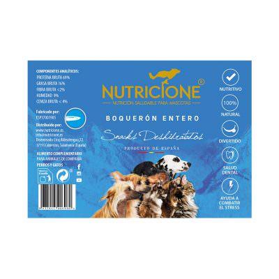 Etiqueta Snack natural Boquerón entero para perro y gato
